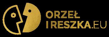 Orzeł i Reszka Logo koloru złotego bez tła